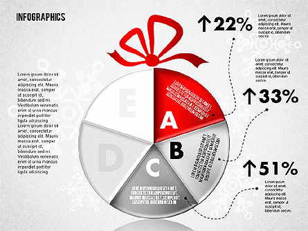 Christmas Decoration Pie Chart, Slide 4, 01791, Pie Charts — PoweredTemplate.com