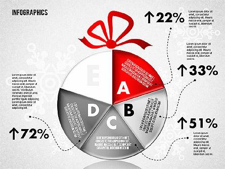 Christmas Decoration Pie Chart, Slide 5, 01791, Pie Charts — PoweredTemplate.com