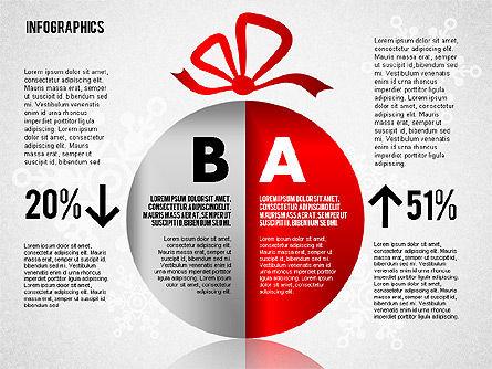 Christmas Decoration Pie Chart, Slide 7, 01791, Pie Charts — PoweredTemplate.com