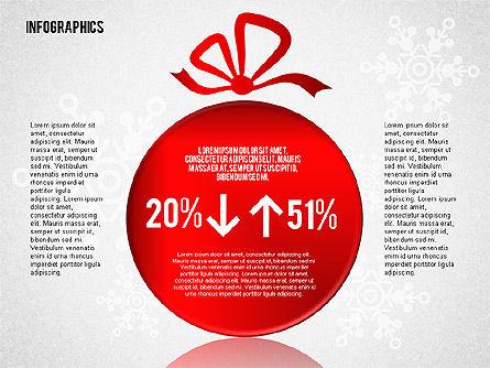 Christmas Decoration Pie Chart, Slide 8, 01791, Pie Charts — PoweredTemplate.com