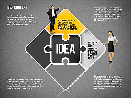 Idea Puzzle Concept with People, Slide 10, 01795, Puzzle Diagrams — PoweredTemplate.com