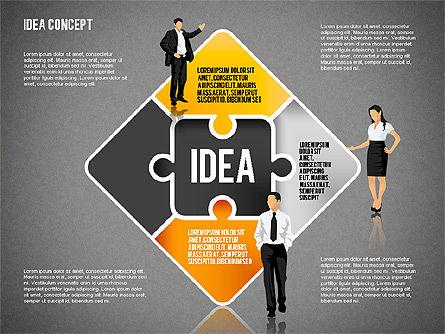 Idea Puzzle Concept with People, Slide 11, 01795, Puzzle Diagrams — PoweredTemplate.com