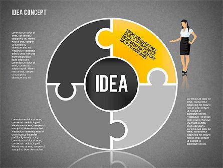 Idea Puzzle Concept with People, Slide 13, 01795, Puzzle Diagrams — PoweredTemplate.com