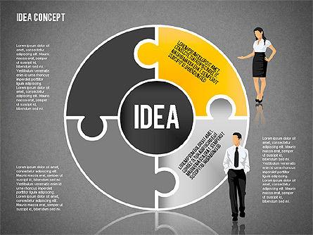 Idea Puzzle Concept with People, Slide 14, 01795, Puzzle Diagrams — PoweredTemplate.com