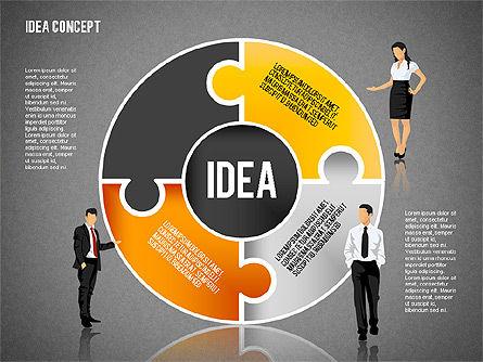 Idea Puzzle Concept with People, Slide 15, 01795, Puzzle Diagrams — PoweredTemplate.com