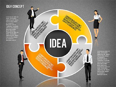 Idea Puzzle Concept with People, Slide 16, 01795, Puzzle Diagrams — PoweredTemplate.com