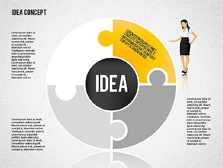 Idea Puzzle Concept with People, Slide 5, 01795, Puzzle Diagrams — PoweredTemplate.com