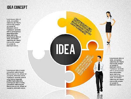 Idea Puzzle Concept with People, Slide 6, 01795, Puzzle Diagrams — PoweredTemplate.com