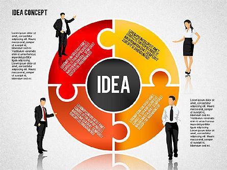 Idea Puzzle Concept with People, Slide 8, 01795, Puzzle Diagrams — PoweredTemplate.com