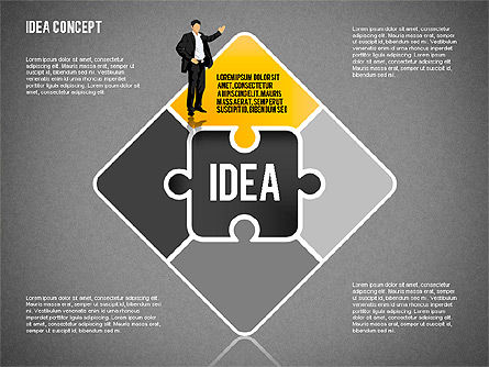 Idea Puzzle Concept with People, Slide 9, 01795, Puzzle Diagrams — PoweredTemplate.com
