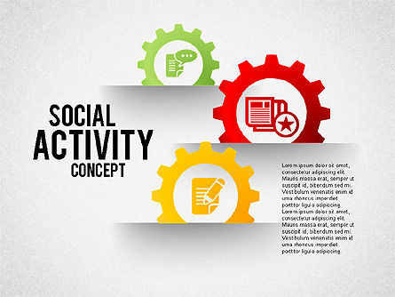 Social Activity Shapes, 01796, Shapes — PoweredTemplate.com