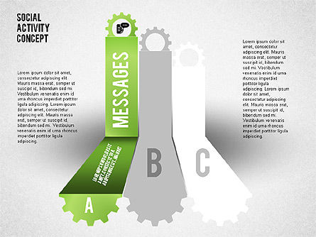 Social Activity Shapes, Slide 2, 01796, Shapes — PoweredTemplate.com