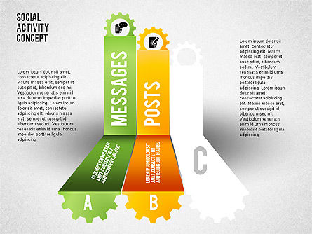 Social Activity Shapes, Slide 3, 01796, Shapes — PoweredTemplate.com
