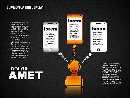 Communication Concept, Slide 14, 01800, Business Models — PoweredTemplate.com