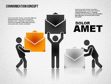 Communication Concept, Slide 8, 01800, Business Models — PoweredTemplate.com