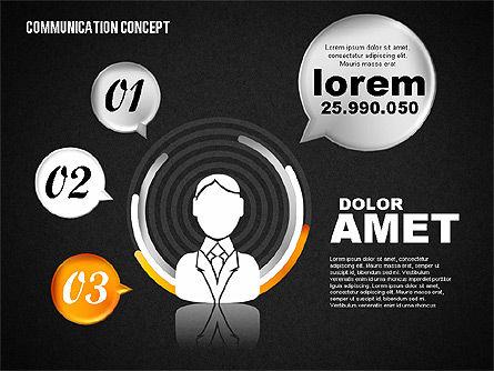 Communication Concept, Slide 9, 01800, Business Models — PoweredTemplate.com