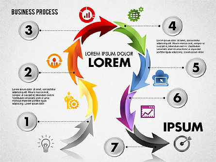 Serpentine Process, Slide 8, 01801, Process Diagrams — PoweredTemplate.com
