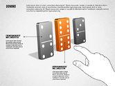Business Models: Domino Concept Diagram #01803