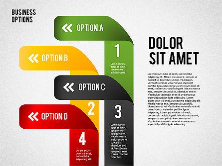 Folded Ribbon Options, Slide 4, 01804, Business Models — PoweredTemplate.com