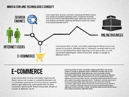 Online Business Process Diagram, Slide 3, 01807, Process Diagrams — PoweredTemplate.com