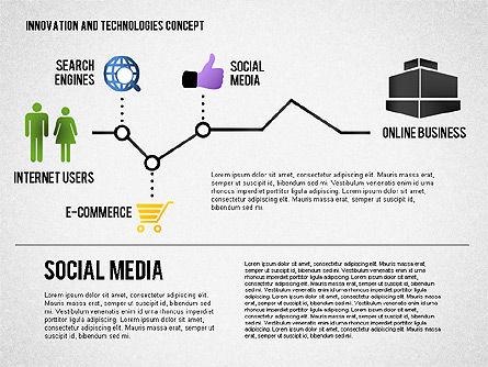 Online Business Process Diagram, Slide 4, 01807, Process Diagrams — PoweredTemplate.com