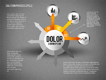 Solution Process Cycle, Slide 11, 01809, Process Diagrams — PoweredTemplate.com