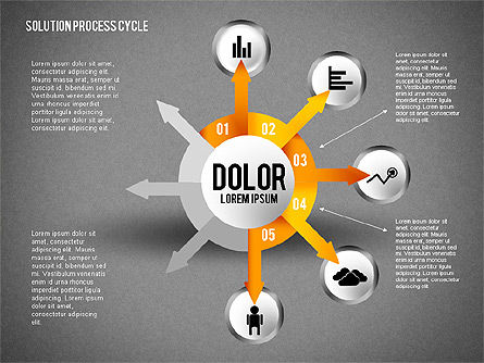 Solution Process Cycle, Slide 13, 01809, Process Diagrams — PoweredTemplate.com