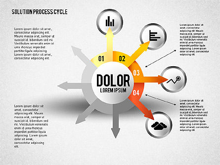 Solution Process Cycle, Slide 4, 01809, Process Diagrams — PoweredTemplate.com
