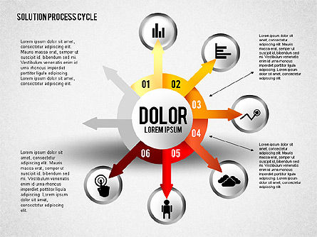 Solution Process Cycle, Slide 6, 01809, Process Diagrams — PoweredTemplate.com