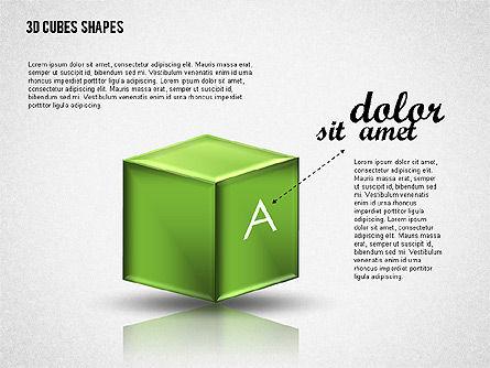Shapes: 3d cubos formas #01810