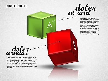 3D Cubes Shapes, Slide 2, 01810, Shapes — PoweredTemplate.com