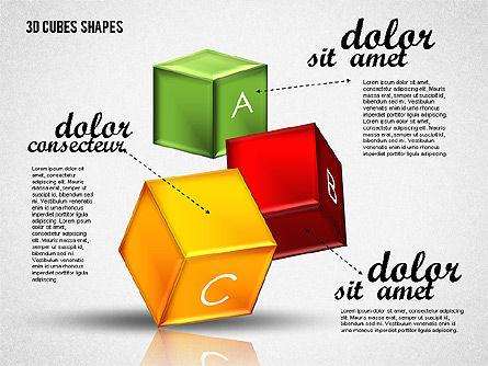 3D Cubes Shapes, Slide 3, 01810, Shapes — PoweredTemplate.com