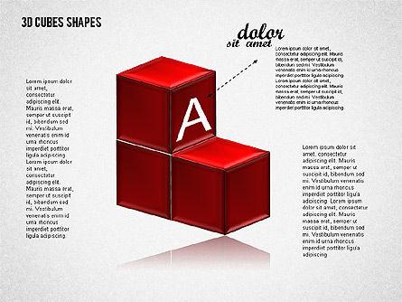 3D Cubes Shapes, Slide 4, 01810, Shapes — PoweredTemplate.com