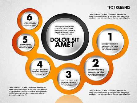 Circles with Text, Slide 4, 01813, Text Boxes — PoweredTemplate.com