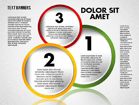 Circles with Text, Slide 7, 01813, Text Boxes — PoweredTemplate.com