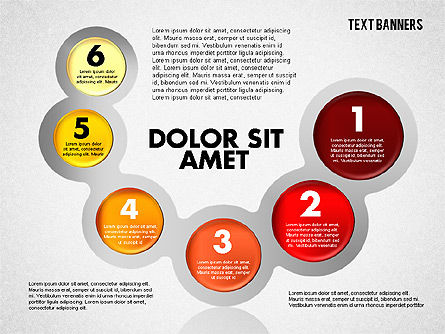 Circles with Text, Slide 8, 01813, Text Boxes — PoweredTemplate.com