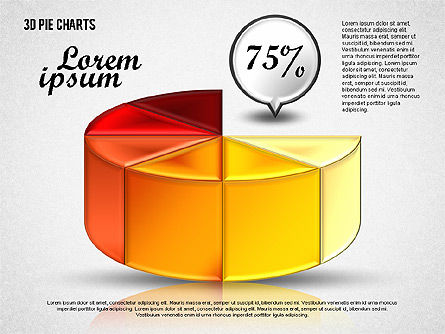 Pie Chart Toolbox, Slide 3, 01814, Pie Charts — PoweredTemplate.com