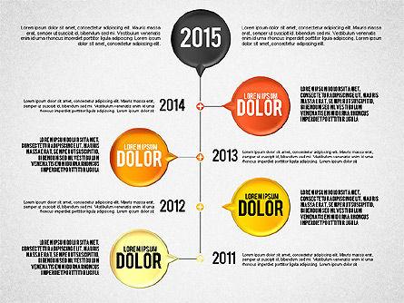 Timeline Set, Slide 2, 01816, Timelines & Calendars — PoweredTemplate.com