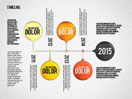 Timeline Set, Slide 3, 01816, Timelines & Calendars — PoweredTemplate.com