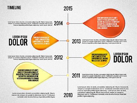 Timeline Set, Slide 4, 01816, Timelines & Calendars — PoweredTemplate.com