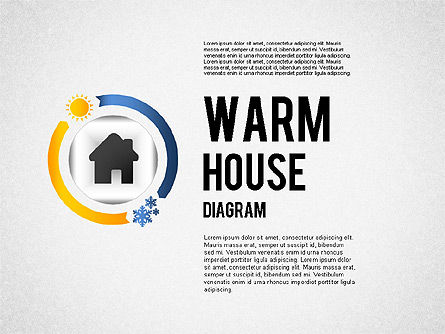 Warm Home Technology Diagram, 01818, Presentation Templates — PoweredTemplate.com