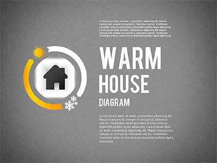 Warm Home Technology Diagram, Slide 9, 01818, Presentation Templates — PoweredTemplate.com