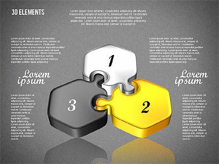 Puzzle Pieces, Slide 10, 01820, Puzzle Diagrams — PoweredTemplate.com
