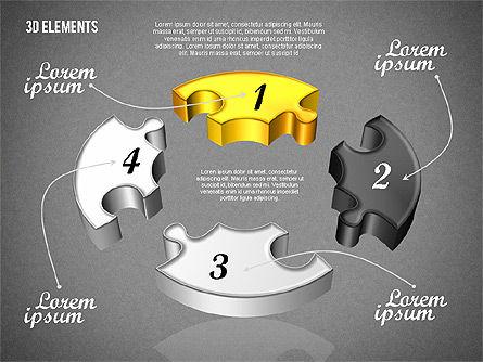 Puzzle Pieces, Slide 11, 01820, Puzzle Diagrams — PoweredTemplate.com