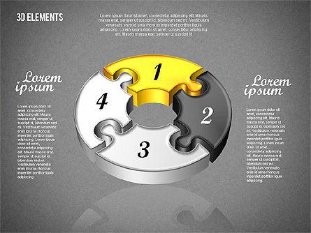 Puzzle Pieces, Slide 12, 01820, Puzzle Diagrams — PoweredTemplate.com