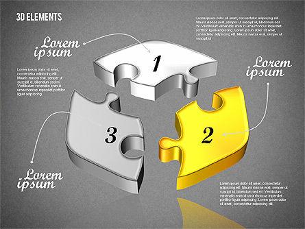 Puzzle Pieces, Slide 13, 01820, Puzzle Diagrams — PoweredTemplate.com