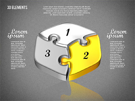 Puzzle Pieces, Slide 14, 01820, Puzzle Diagrams — PoweredTemplate.com