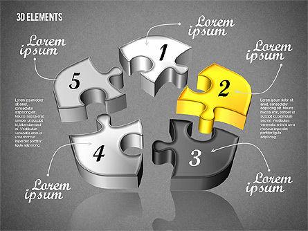 Puzzle Pieces, Slide 15, 01820, Puzzle Diagrams — PoweredTemplate.com