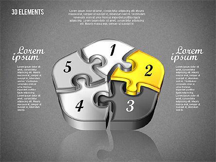 Puzzle Pieces, Slide 16, 01820, Puzzle Diagrams — PoweredTemplate.com