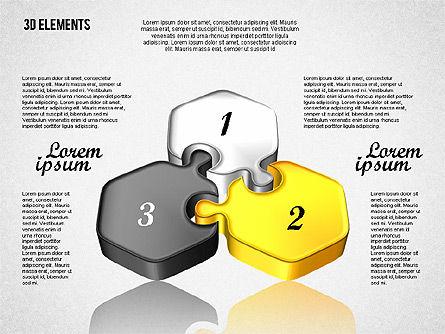Puzzle Pieces, Slide 2, 01820, Puzzle Diagrams — PoweredTemplate.com